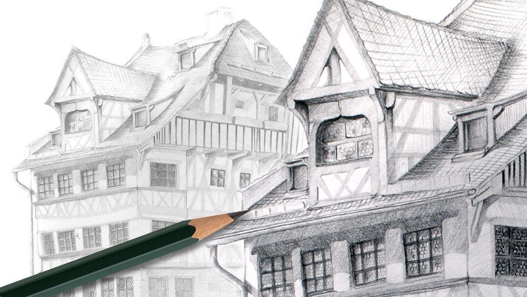 So Zeichnen Sie Das Dürer Haus Mit Dem Castell 9000