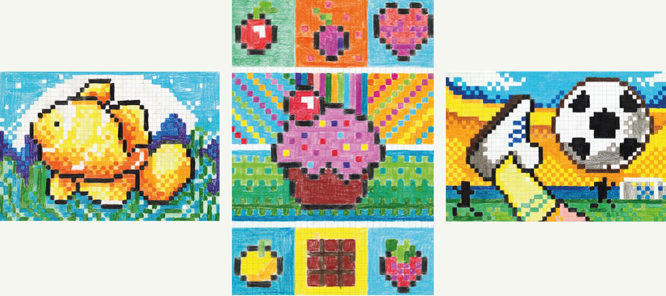 coole pixel bilder zum nachmalen