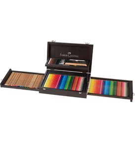 Faber-Castell - Art & Graphic Collection, Holzkoffer, 125-teilig