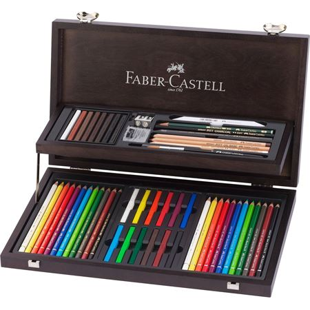 Faber-Castell - Art & Graphic Compendium, Holzkoffer, 53-teilig