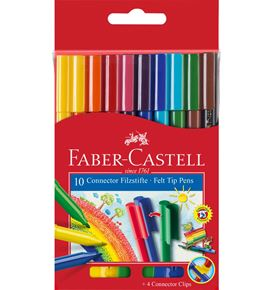 Faber-Castell - Connector Filzstift, 10er Kartonetui