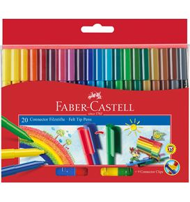 Faber-Castell - Filzstift Connector 20er Kartonetui