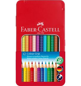 Faber-Castell - Colour Grip Buntstift, 12er Metalletui