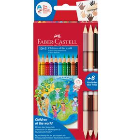 Faber-Castell - Colour Grip Children of the world Buntstift dreikant 10+3