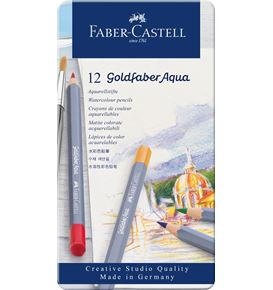 Faber-Castell - Goldfaber Aqua Aquarellstift, 12er Metalletui