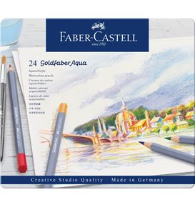 Faber-Castell - Goldfaber Aqua Aquarellstift, 24er Metalletui