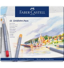 Faber-Castell - Aquarellstift Goldfaber Aqua 48er Metalletui