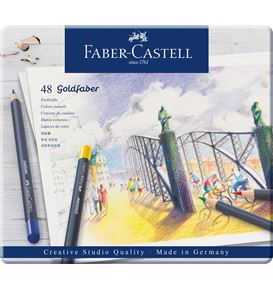 Faber-Castell - Goldfaber Farbstift, 48er Metalletui