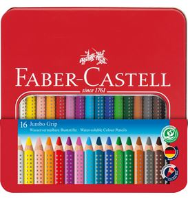 Faber-Castell - Jumbo Grip Buntstift, 16er Metalletui
