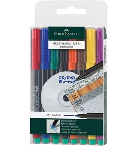 Faber-Castell - Marker Multimark permanent Medium 8er Etui