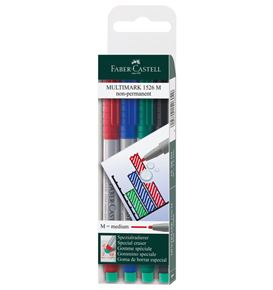 Faber-Castell - Marker Multimark non-permanent Medium 4er Etui
