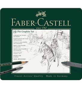 Faber-Castell - Set Pitt Graphite medium Metalletui