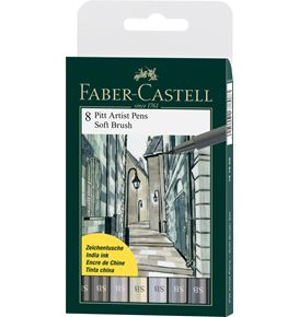Faber-Castell - Pitt Artist Pen Soft Brush Tuschestift, 8er Etui