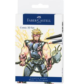 Faber-Castell - Comic Illustration 3D-Set, 11-teilig