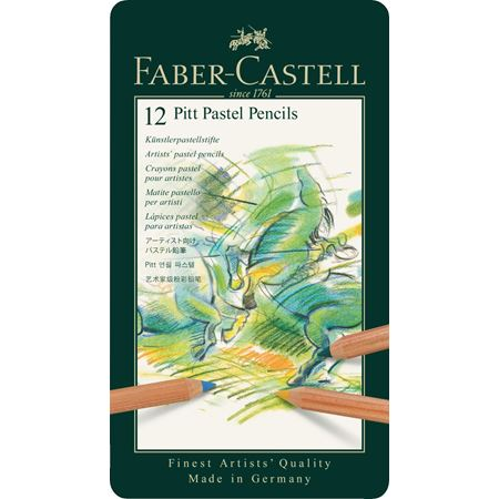 Faber-Castell - Pitt Pastellstift, 12er Metalletui