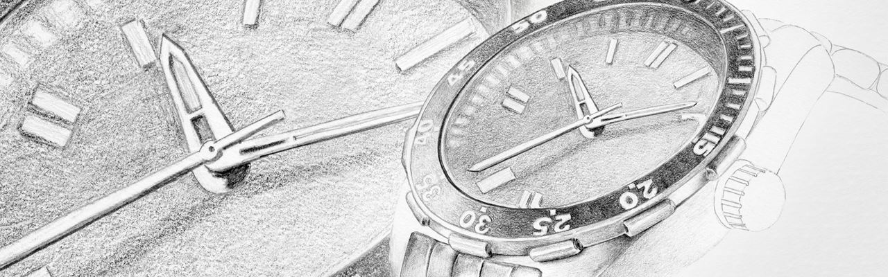 Realistic clock created with Graphite pencils